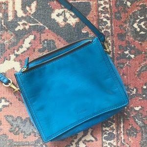 NWOT Fossil leather and suede crossbody